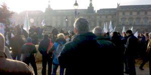 FNSEA Grand bassin Parisien action syndicale du 19 décembre 2017 au Louvre